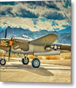 P38 Fly In Metal Print