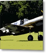 P40 Take Off Metal Print