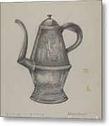 Pa. German Coffee Pot Metal Print