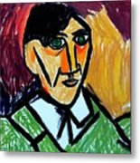 Pablo Picasso 1907 Self-portrait Remake Metal Print