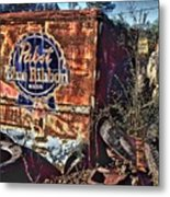 Pabst Blue Ribbon Delievery Truck Metal Print