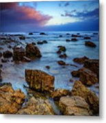 Pacific Blue At Pelican Point Metal Print