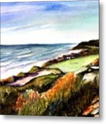 Pacific Dunes Golf Course Metal Print