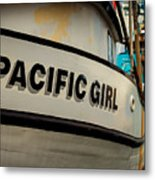 Pacific Girl Metal Print