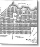 Pacific Grove May 7 1887 Metal Print
