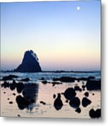 Pacific Moonset Metal Print