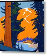 Pacific Northwest, American And Canadian Rockies, National Park Metal Print