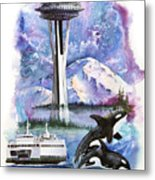 Pacific Northwest Montage  Metal Print