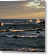 Pacific Ocean After The Storm Metal Print