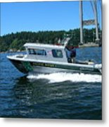 Pacific River Freedom Metal Print