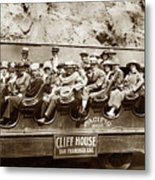 Pacific Siteseeing Co Bus No. 15 With A Load Of Tourists On Point 1919 Metal Print