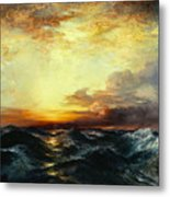 Pacific Sunset Metal Print by Thomas Moran