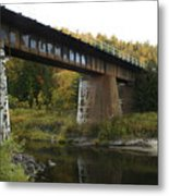 Pack River Bridge Metal Print