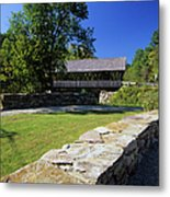 Packard Hill Covered Bridge - Lebanon New Hampshire  Metal Print