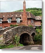 Packhorse Bridge At Allerford Metal Print