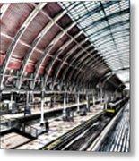 Paddington Station London Sketch Metal Print