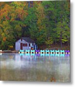 Paddle Boats On The Lake Metal Print