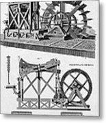 Paddle-driven Beam-engine Suction Pump Metal Print