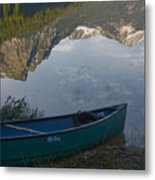 Paddle To The Mountains Metal Print