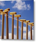 Paddles Hanging In A Row Metal Print