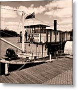 Paddlesteamer Metal Print