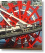 Paddlewheel At Rest Metal Print