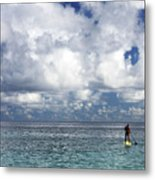 Paddling In The Open Metal Print