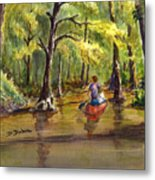 Paddling Into The Swamp Metal Print
