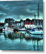 Padstow Harbour At Dusk Metal Print