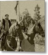 Pageantry In Sepia Metal Print