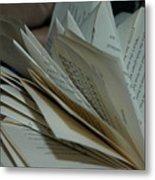 Pages Metal Print