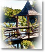 Pagoda Over The Lake Metal Print