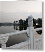 Pagoda Reflection In Chinese Garden Singapore Metal Print