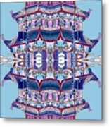 Pagoda Tower Becomes Chinese Lantern 2 Chinatown Chicago Metal Print by Marianne Dow