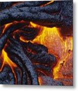 Pahoehoe Lava Texture Metal Print