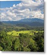 Pai Landscape View, Thailand Metal Print