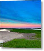 Paines Creek Sunset Cape Cod Metal Print