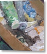 Paint Box Metal Print
