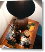 Paint Brushes And A Lamp 2 Metal Print