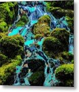 Paint Bucket Waterfall Metal Print