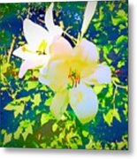 Paint Me In Water Color Said The Lilies To The Artist Metal Print