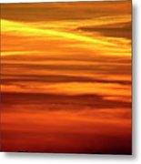 Paint The Sky Gold Metal Print
