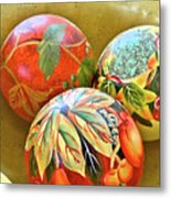Painted Balls Metal Print