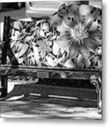 Painted Bench Metal Print