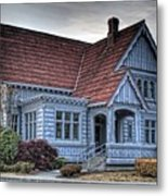 Painted Blue House Metal Print