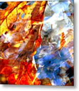 Painted Branches Abstract 1 Metal Print