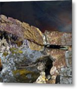 Painted Cliff Metal Print