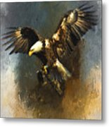 Painted Eagle Metal Print