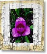 Painted Flower With Peeling Effect Metal Print
