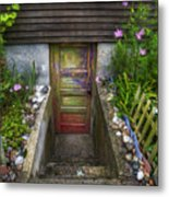 Painted Garden Door Metal Print